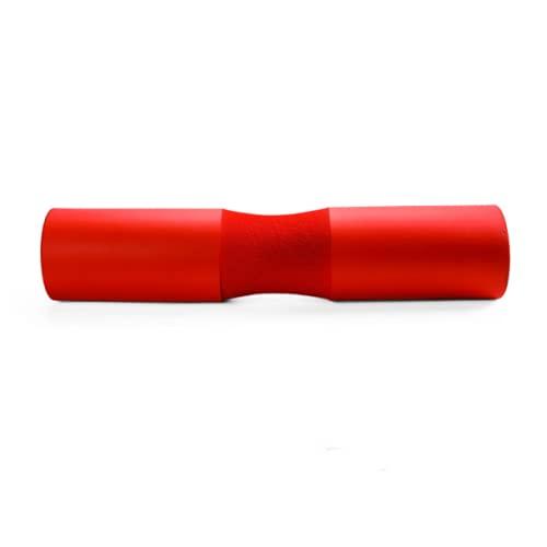 LOVECENTRAL Almohadilla para Barra de Gimnasio, Protectora del Cuello y Hombros, Barbell Squat Pad, para Empuje de Cadera, Sentadillas y Barra Pesas Musculacion, Entrenamiento de Fuerza. (Rojo)