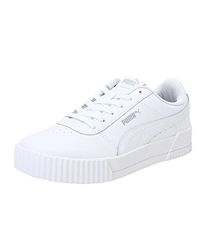Puma Carina L, Zapatillas de Deporte Mujer, White White Silver, 41 EU*