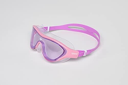 ARENA The One Mask JR Gafas, Unisex-Baby, Pink-Pink-Violet, No Size
