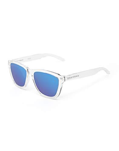 HAWKERS Gafas de Sol, Transparente/Azul, One Size Unisex Adulto*