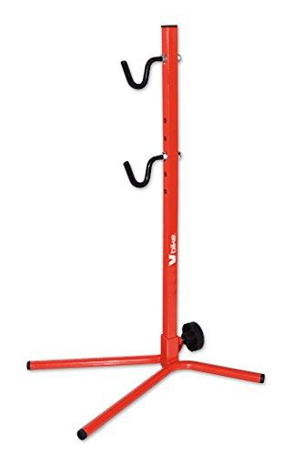 Soporte trasero ajustable para garajes, con cubierta roja hasta 29 bicicletas*
