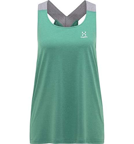 Haglöfs Ridge Camiseta para Senderismo, 4L8-Trail Green, XS Mujer*