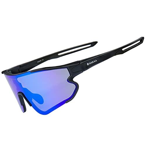 SUUKAA Ciclismo Gafas CE Certificación Polarizadas con 3 Lentes Intercambiables UV 400...*