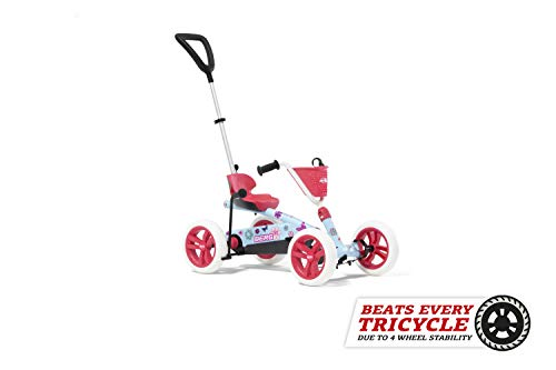 BERG Pedal Gokart Buzzy Bloom 2-in-1 Incl. Barra de Empuje| Coche de Pedales, Seguro y Estabilidad,...*