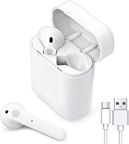 Auriculares Bluetooth, Auriculares Inalámbricos, Auriculares Internos, Auriculares con Cancelación de Ruido,micrófono y Caja de Carga incorporados, Adecuados para Dispositivo con Bluetooth