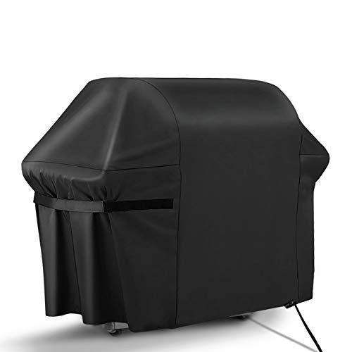 RATEL Funda para Barbacoa , Impermeable Cubierta de Barbacoa Protector Oxford Resistente al Desgarro para Barbacoa Anti-Viento/UV/Impermeabilidad con Correas y Bolsa(163x61x122cm)