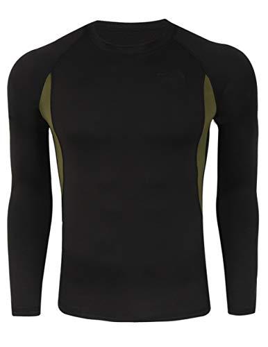 Camiseta Térmica Interior Transpirable Cómoda Manga Larga para Hombre #1 Negro L*
