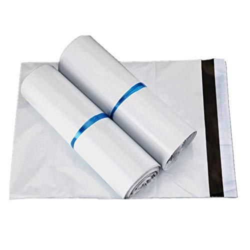 100 Bolsas plástico para envíos Bolsas para Envíos Sobres de Postales Plástico de Genérico Envío por correo Autoadhesivas Embalaje Sobres para Postales Blanco (40 * 55CM)