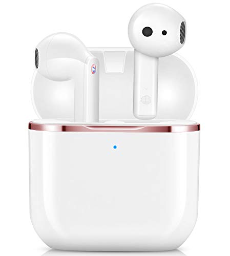 yobola Auriculares Inalámbricos, Auriculares Bluetooth 5.1 HiFi Estéreo, Auriculares Inalambricos Bluetooth con Control Táctil, Micrófono Incorporado, IPX5, para Xiaomi Samsung iPhone Huawei