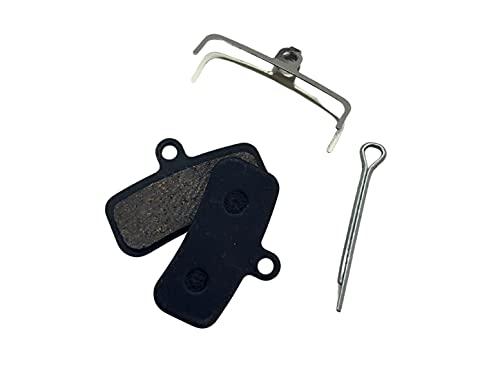 BST PARTS 1 paire plaquettes Shimano BR-M640/810/820.Semi métallique (livrée Avec ressort + Tige de Fixation) Pastillas de Freno de Disco para Bicicleta, Unisex Adulto, Negro, tamaño estándar