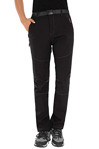HAINES Pantalon Trekking Mujer Impermeable Pantalones de Montaña Invierno Pantalón Softshell de...*
