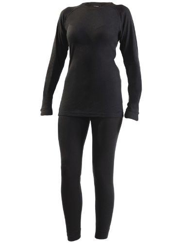 Ultrasport Thermal Underwear Conjunto, Mujer, Negro, M