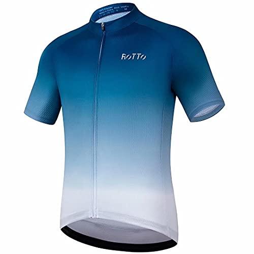 ROTTO Maillot Ciclismo Hombre Camiseta Ciclismo Manga Corta Ropa Ciclista para Bicicleta de montaña...*