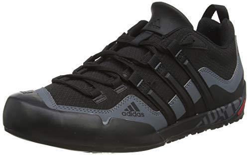 adidas Terrex Swift Solo, Zapatillas de Deporte Exterior Hombre, Negro (Black/Black/Lead 0), 42 2/3 EU