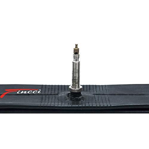 Fincci 26 x 1,25 1,50 Pulgadas 48mm Cámara de Aire Presta Válvula Interior para Carretera MTB...*