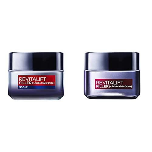 L'Oréal Paris, Set de Crema de Día + Crema de Noche, con Ácido Hialurónico Revitalift Filler,...*