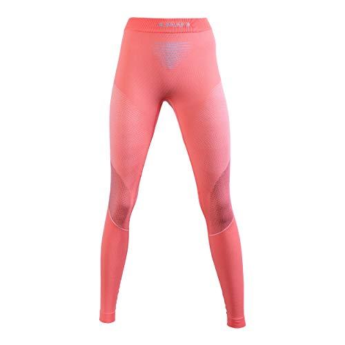 UYN Visyon - Pantalón Interior térmico para Mujer, Mujer, U100032, Coral/Peacock/Pearl Grey, XS