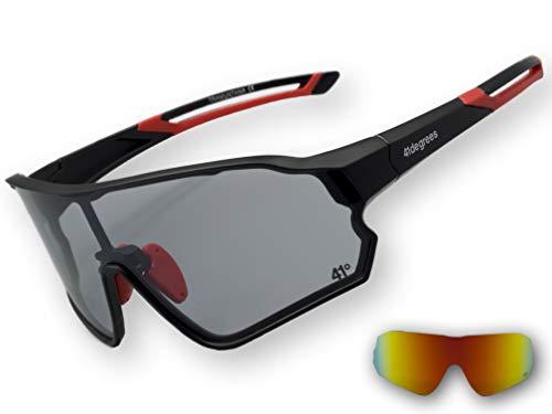 41degrees. Gafas de Sol Fotocromáticas con 2 Lentes Intercambiables. 2 en 1 Gafas de Ciclismo Polarizadas UV400 para Running, Esquí... Máscara Unisex Modelo Tramuntana