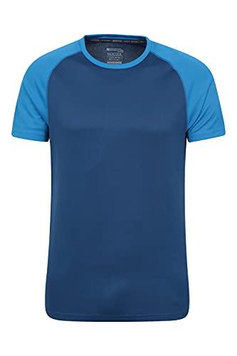 Mountain Warehouse Camiseta para Hombres Endurance - Transpirable, de protección Solar UPF30, Camiseta Ligera y cómoda, Cuidado fácil Azul Marino XS