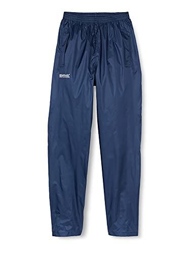 Regatta Pack It - Sobrepantalón impermeable para mujer, azul midnight, Talla Medium (38-40 EU)