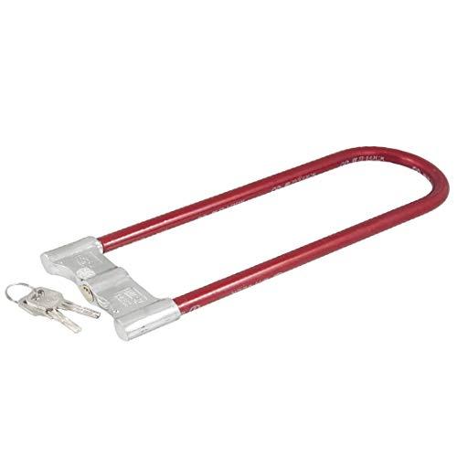 New Lon0167 Plástico rojo Destacados recubierto U Diseño eficacia confiable Seguridad motocicleta Bicicleta Cable Lock w Keys(id:83d f1 7b 242)