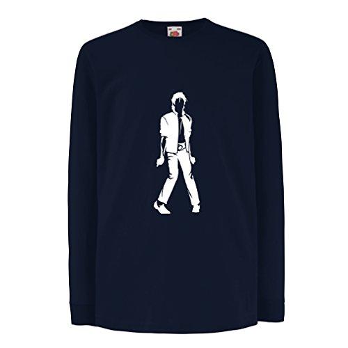lepni.me Camiseta para Niño/Niña Me Encanta M J - Rey del Pop, 80s, 90s Músicamente Camisa, Ropa...*