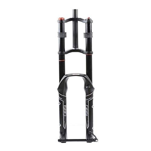 LJP Hombro Doble Eje Cilindro Resorte Aceite Control neumático Eje Barril Tenedor Downhill Suspensión Tubo Recto Ultralight Bicicletas Amortiguador MTB Tenedor Ajuste Rebote