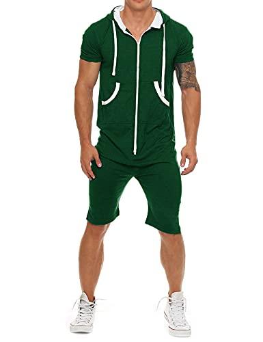 Coshow Mono para hombre, mono para correr, chándal deportivo, camiseta y pantalón corto de...*