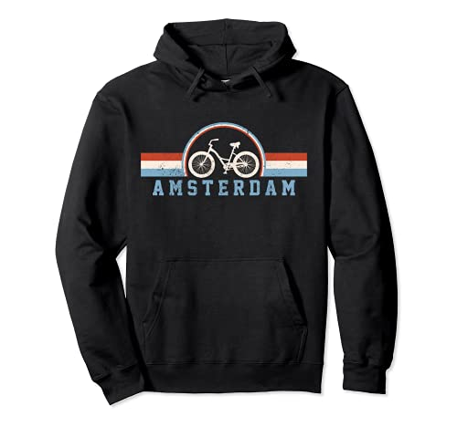 Amsterdam Bicicleta Holanda Holanda Holanda Bicicleta Holandesa Vintage Sudadera con Capucha