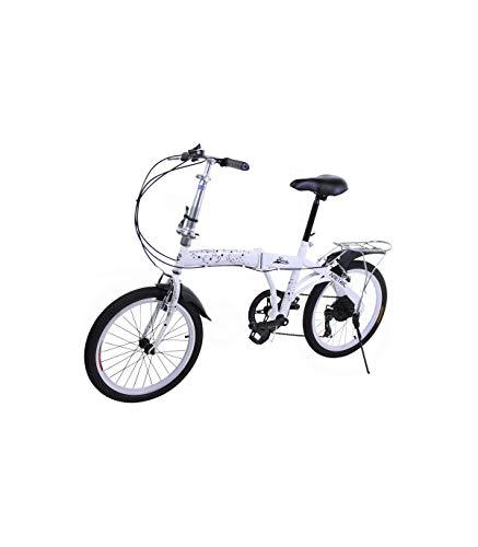 Riscko Bicicleta Plegable Metric Blanca con 7 Velocidades Manillar y Sillín Ajustables*
