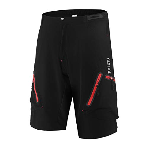 SUKUTU Pantalones Cortos de Ciclismo para Hombre Pantalones Cortos de MTB Pantalones Cortos de...*