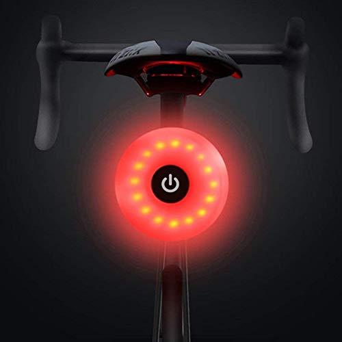 WASAGA Luz Trasera de Bicicleta, LED USB Recargable, Impermeable, Advertencia, 5 Modos, luz Trasera...*