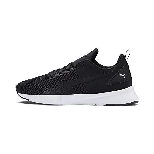 PUMA Flyer Runner, Zapatillas de Running Unisex Adulto, Black-Black-White, 45 EU
