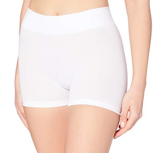 PIECES Pclondon Mini Shorts Noos, Culotte para Mujer, Blanco (Bright White Bright White), 36 (Talla...*