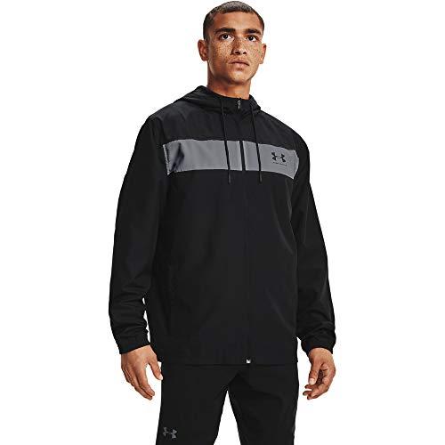 Under Armour Hombres Sportstyle - Camiseta Cortavientos (Talla M), Color Negro