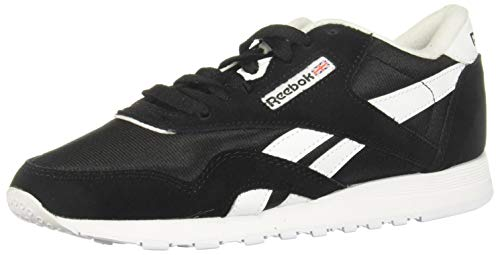 Reebok Classic Nylon, Sneaker Mujer, Black/Black/White, 38 EU