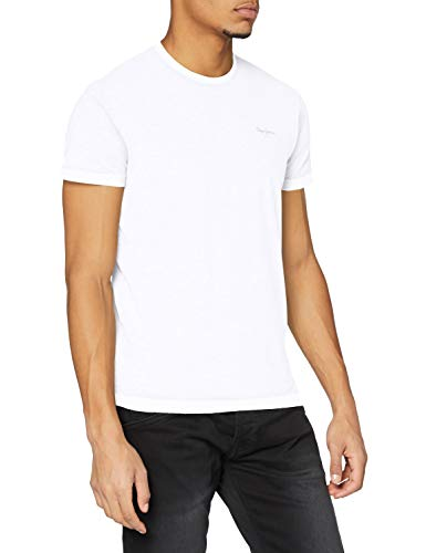 Pepe Jeans Original Basic S/S PM503835 Camiseta, Blanco (White 800), Small para Hombre
