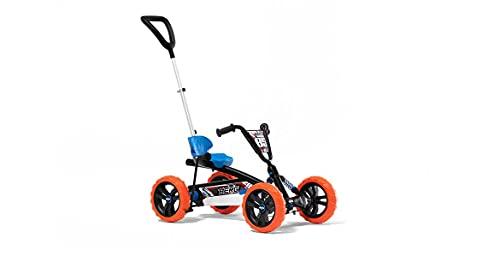 BERG Pedal Gokart Buzzy Nitro 2-in-1 Incl. Barra de Empuje| Coche de Pedales, Seguro y Estabilidad, Juguete para niños Adecuado para niños de 2 a 5 años