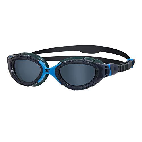 Zoggs Predator Flex Gafas de natación, Unisex Adulto, Gris/Azul/Tintado Ahumado, Regular*