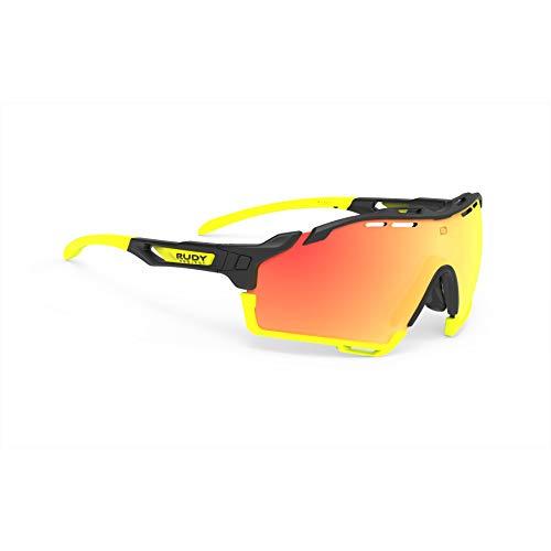 Rudy Project Cutline 2021 - Gafas de ciclismo, color negro mate y naranja
