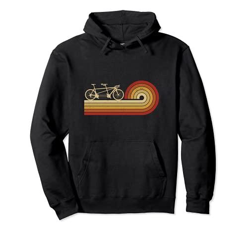 Bicicleta Tandem Vintage Ciclista Dos Personas Bicicleta Bicicleta Sudadera con Capucha*