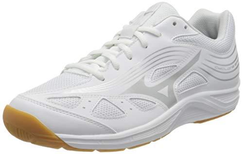 Mizuno Cyclone Speed 3, Zapatillas de vleibol Unisex Adulto, Blanco y Plateado, 40.5 EU