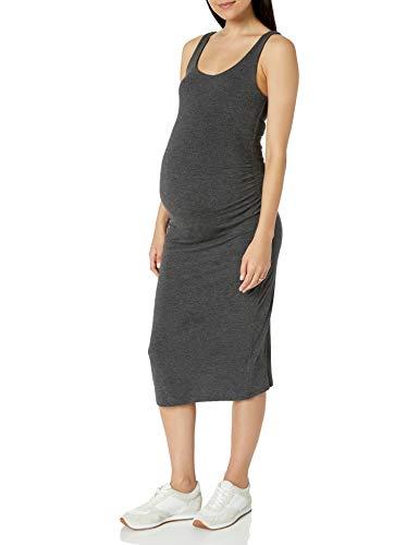 Amazon Essentials Vestido sin Mangas de Maternidad, Carbón Mezcla, Cuadros Escoceses, XL*