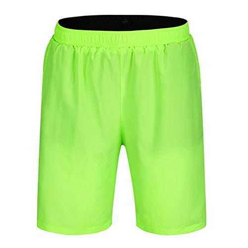 Pantalones Cortos De MTB para Hombres,3D Gel De Sílice Acolchado Pantalon Bici,Secado Rápido Transpirables Sueltos Culotte Ciclismo con Bolsillos,para Montaña DEPO(Size:M,Color:Verde Fluorescente)