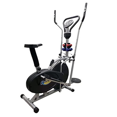 FLMDK414 - Bicicleta elíptica con volante de inercia de 5 kg - Resistencia - Correa de entrenamiento para casa estática dinámica