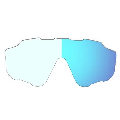 HKUCO Lentes de Repuesto para Oakley Jawbreaker Gafas de Sol Azul fotocromático