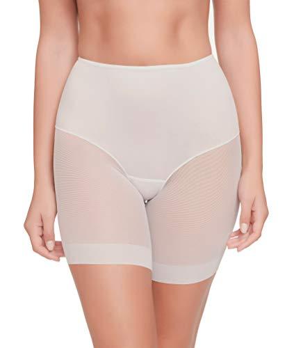 Pantalon Faja Anti-rozadura Invisible y Super Ligero. Tejido Elastico y Super Suave (Blanco, XL)