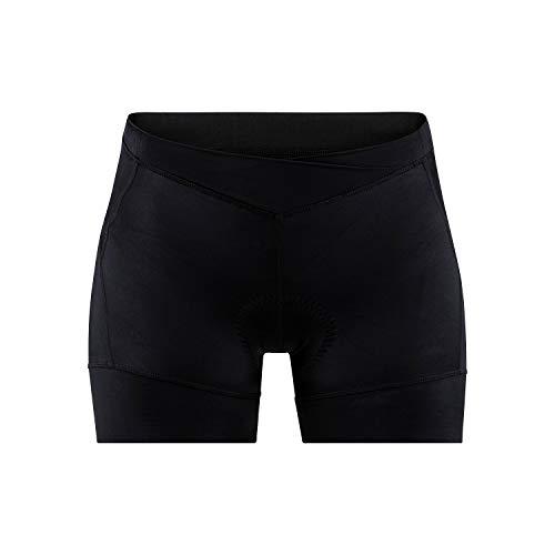 Craft Essence Hot Pants - Mallas de Ciclismo para Mujer, Mujer, Pantalón de Ciclismo, 1907137-999000-3, Negro, Extra-Small