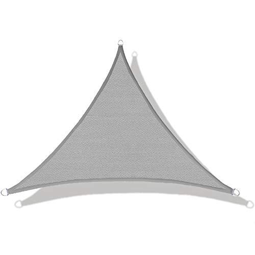 LOVE STORY Toldo Vela de Sombra(HDPE) Triangular 3×3×4.25m Gris Protección UV para Terraza...*