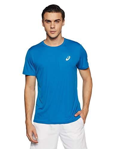 ASICS Silver SS Top T-Shirt, Race Blue, XL Unisex-Adult*